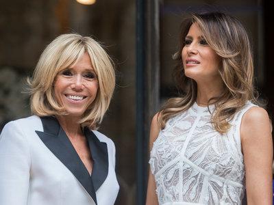Melania Trump y Brigitte Macron: duelo de estilo de primeras damas