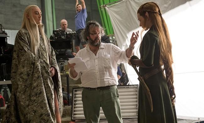 Peter Jackson en el rodaje de 'El hobbit: La desolación de Smaug'