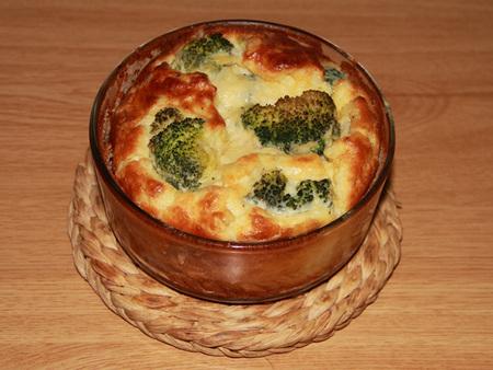 Suflé de coliflor y brócoli con queso sin lactosa. Receta