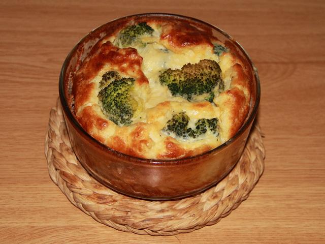 Portada suflé coliflor y brócoli con queso sin lactos