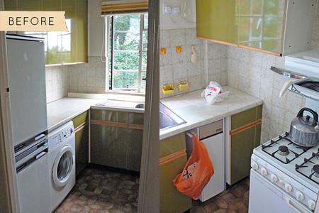 Antes y después: una pequeña cocina londinense abandona los 60