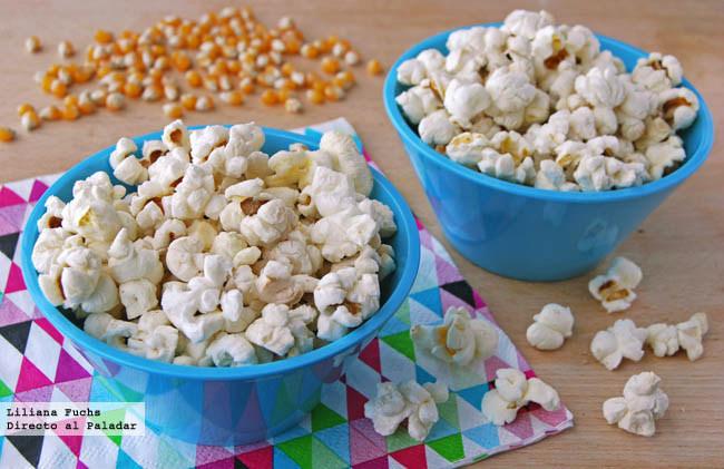Receta de palomitas de maíz caseras