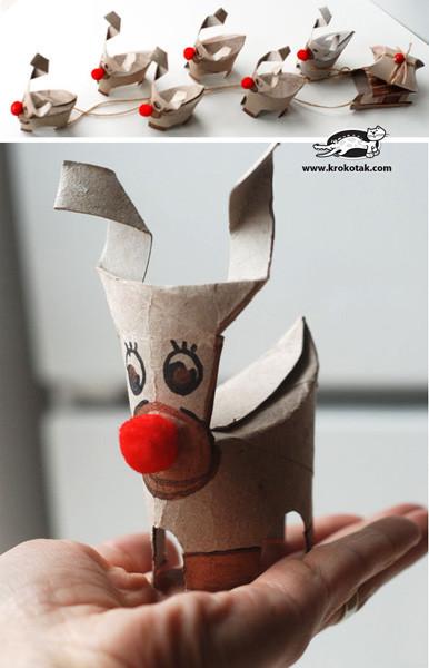 Bonitos Adornos De Navidad Para Hacer Con Los Peques - Adornos-de-navidad-con-rollo-de-papel-higienico
