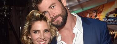 ¡RastreaThor! A Elsa Pataky le hace la mudanza Chris Hemsworth de un solo viaje: él puede con todas las cajas y la casa de Malibú entera si quiere