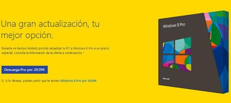 Cómo comprar la actualización a Windows 8 Pro por Internet, paso a paso