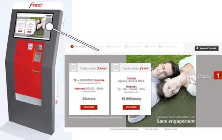 Free Mobile se anima en Francia con una máquina expendedora de SIMs, la imagen de la semana