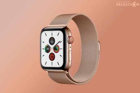Ahorra más de 300 euros en el Apple Watch Series 5 Cellular de 44 mm, caja de acero inoxidable y correa Milanese Loop en Amazon