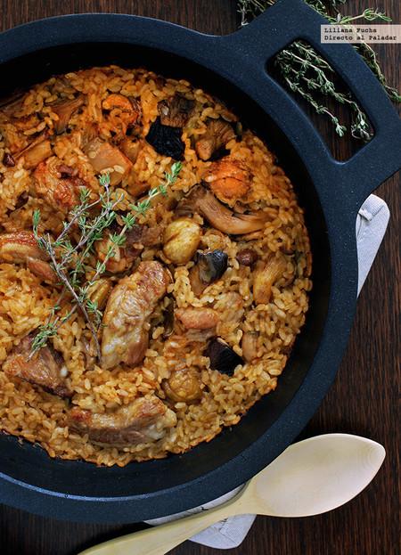Arroz Caldoso Con Setas Y Pollo arroz al horno con costillas, setas y castañas: receta para