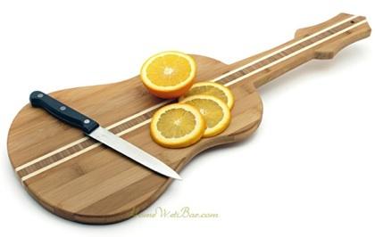 Tabla de cortar con forma de guitarra