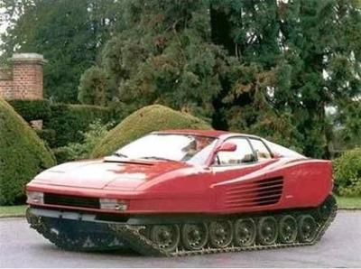 Crimen abominable: Ferrari Testarossa 100% oruga