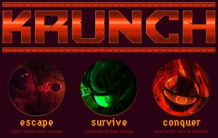 Adelanto de 'KRUNCH', un indie creado por Lou LeGrudge y Dirk Rugged, con banda sonora de Dirk y Disasterpeace ('Fez')