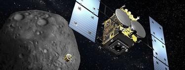 """Ahora podemos ver en vídeo parte del histórico """"aterrizaje"""" de la sonda japonesa Hayabusa 2 en el asteroide Ryugu"""