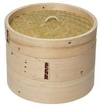 Cesto de bambú para la cocción al vapor