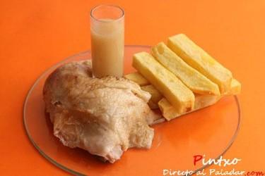 Receta de pollo asado al jerez
