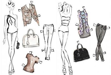 Las Paper Dolls recortables de Louis Vuitton