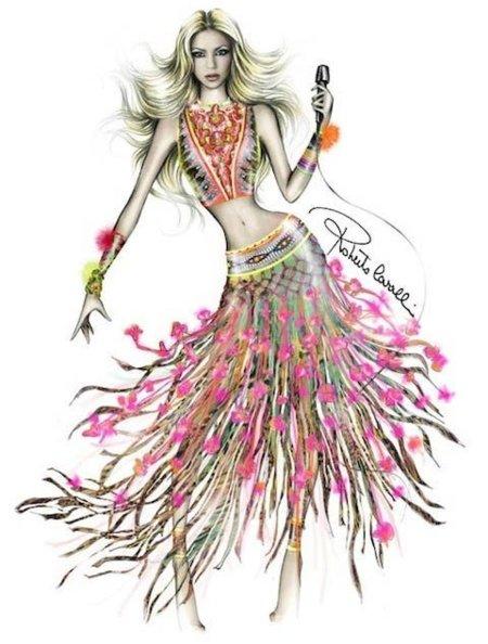 El vestido de Cavalli que lucirá Shakira en la final de Mundial