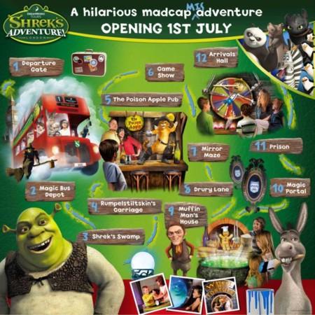 Shrek desembarca en Londres el 1 de julio con una nueva atracción temática