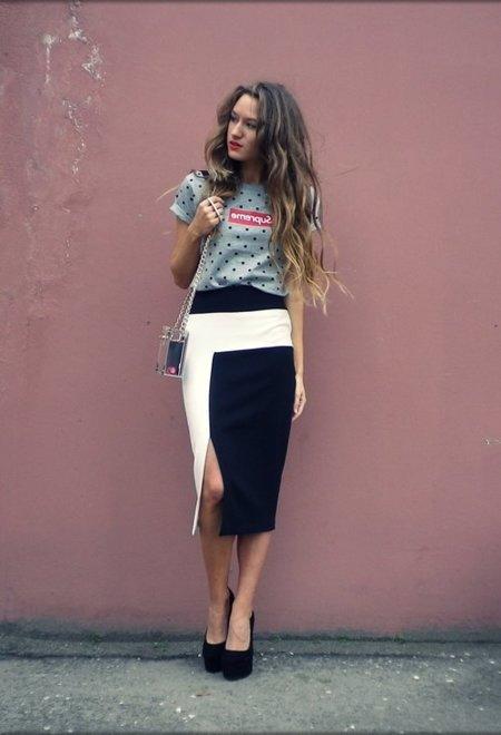 falda camiseta