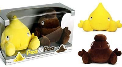 Pee and Poo, unos peluches muy curiosos