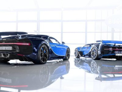 Bugatti Chiron de exhibición y GT Vision son comprados por príncipe árabe
