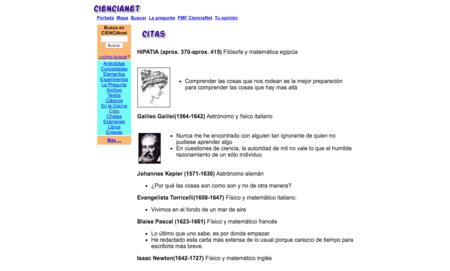 Citas Cientificas Ciencianet