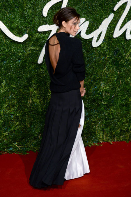 Victoria Beckham Negro espalda