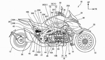 Esto no es un Transformer, son los bocetos de una Honda de tres ruedas ¡híbrida!