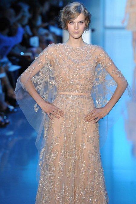 Elie Saab Alta Costura Otoño-Invierno 2011/2012: las transparencias mandan