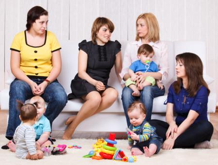 Cuñadas con sus hijos
