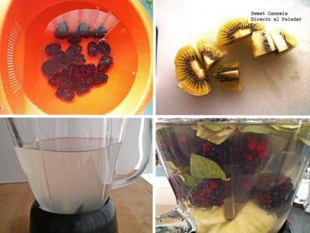 Preparación Agua Fresca Coco