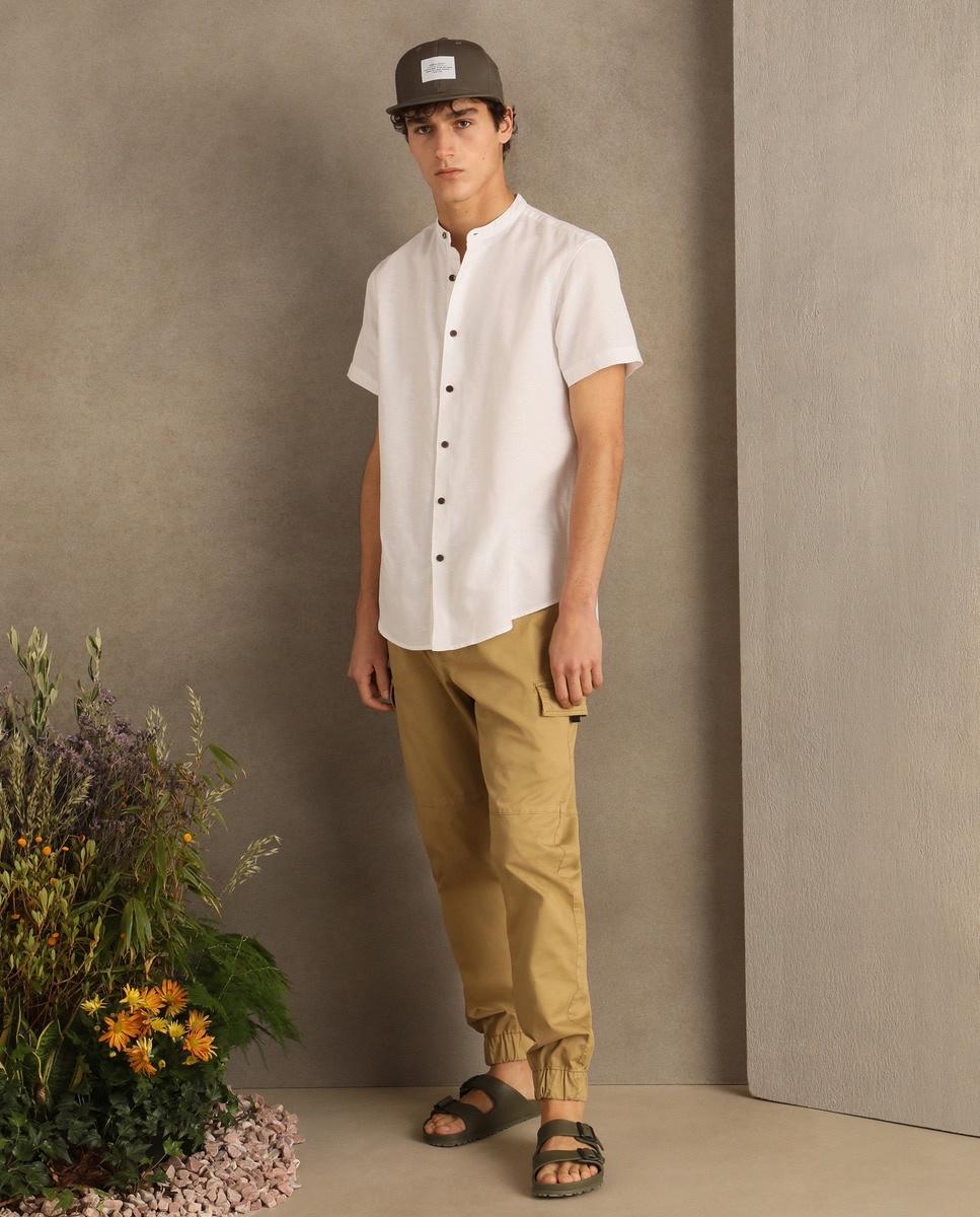 Camisa de lino blanca