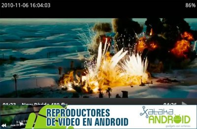 Reproductores de vídeo Android: VPlayer