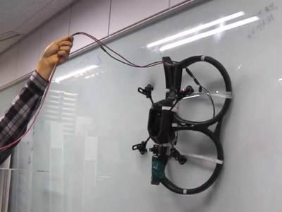 Un drone con ruedas para crear el robot escalador de KAIST