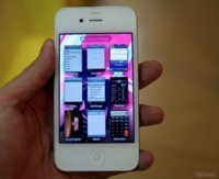 ¿iPhone 4 blanco ejecutando iOS 5.0?