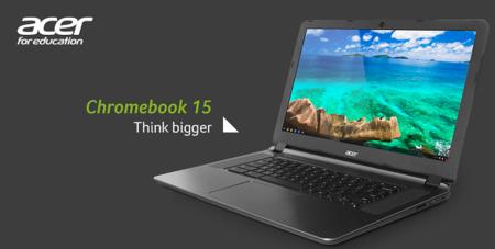Acer Chromebook 15.6, nuevos modelos con Intel Broadwell y mayor autonomía