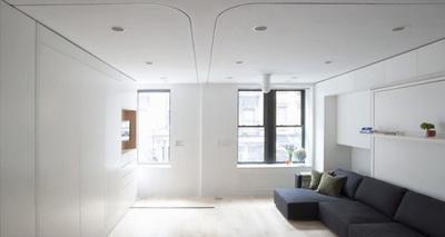 El apartamento modular, seis habitaciones en 40 metros cuadrados