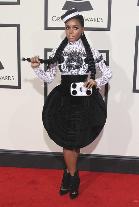 Janelle Monae en los Premios Grammy