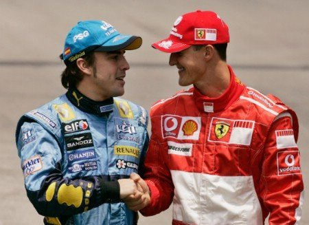 Fernando Alonso aún coloca a Michael Schumacher entre los favoritos al título