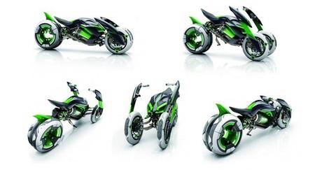 Kawasaki J Three Wheeler EV: en movimiento la idea es mucho más prometedora