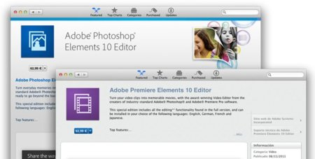 Adobe Photoshop Elements y Premiere Elements disponibles en la Mac App Store