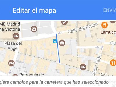 Cómo editar sitios, calles y carreteras en Google Maps para Android
