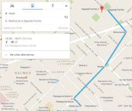 google maps ruta metro