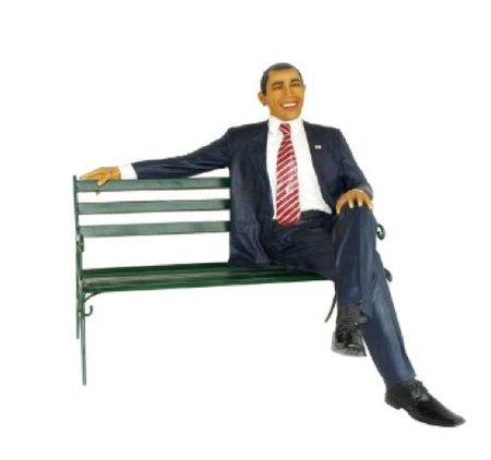 Barack Obama en un banco en tu jardín