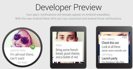 Android Wear abre sitio web para los desarrolladores
