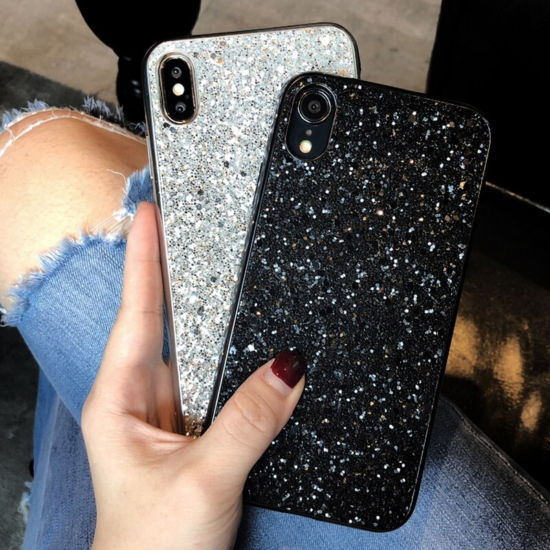 Carcasa de diamantes brillantes de lujo para iPhone 11 Pro 6 6s 7 8 Plus funda para iPhone X Xr Xs Max moda funda de silicona suave