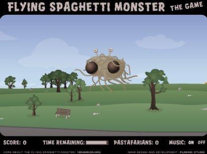 Flying Spaghetti Monster, el juego