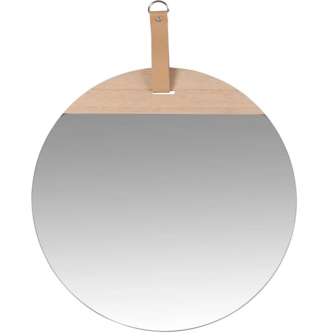 Espejo colgante beige 40x50 cm