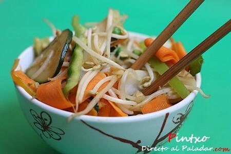 Chop Suey de verduras, receta de inspiración china