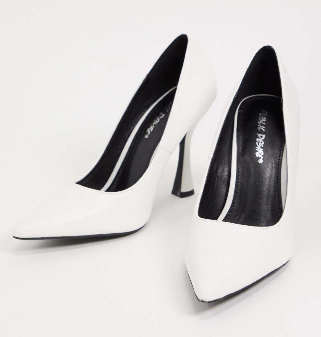 Zapatos blancos de tacón Dahlia de Public Desire