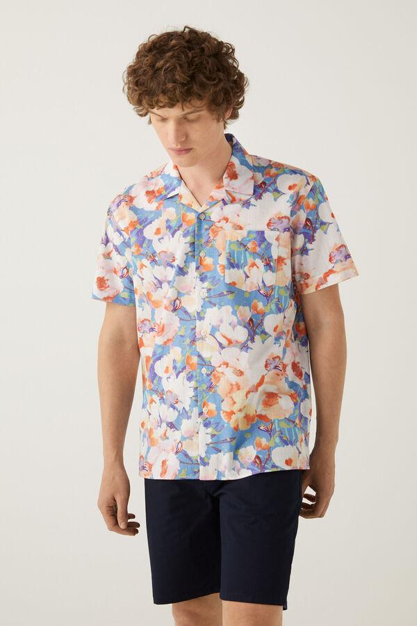 Camisa bowling estampado floral